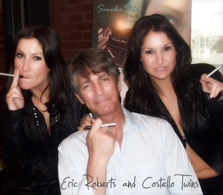 Eric Roberts and the Costello Twins Vaping Their Smoke Stik Platinum Electric Cigs