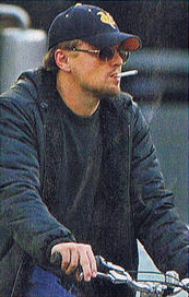 Leonardo DiCaprio smoking an electric cig